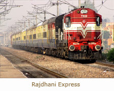 Rajdhani Express, Train Travel in India